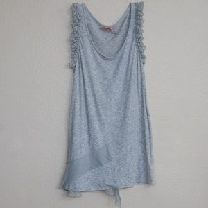 Juicy Couture Tank Top w/ Tulle Ruffled Details